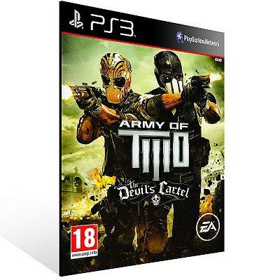 PS3 - Army of TWO The Devil's Cartel - Digital Código 12 Dígitos Americano
