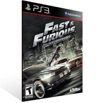 PS3 - Fast & Furious: Showdown - Digital Código 12 Dígitos Americano