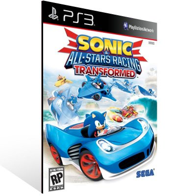 PS3 - Sonic & All-Stars Racing Transformed - Digital Código 12 Dígitos Americano