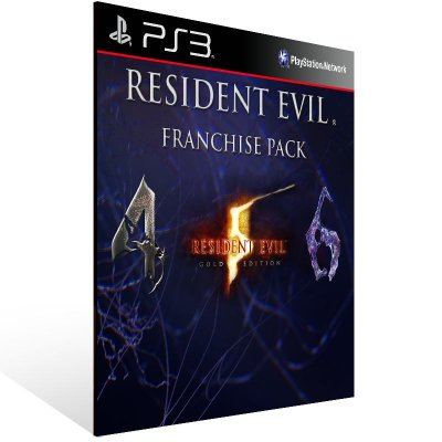 PS3 - Resident Evil Franchise Pack - Digital Código 12 Dígitos Americano