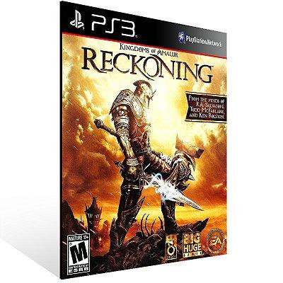 PS3 - Kingdoms of Amalur: Reckoning - Digital Código 12 Dígitos Americano