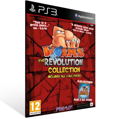 Ps3 - Worms Revolution - Digital Código 12 Dígitos US