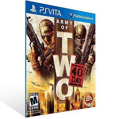 Ps Vita - Army of Two: The 40th Day - Digital Código 12 Dígitos US
