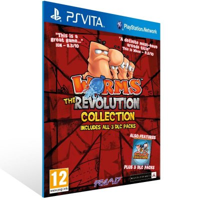 Ps Vita - Worms Revolution Extreme - Digital Código 12 Dígitos US