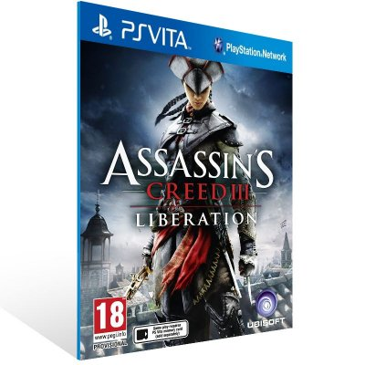 Ps Vita - Assassin's Creed III Liberation - Digital Código 12 Dígitos US