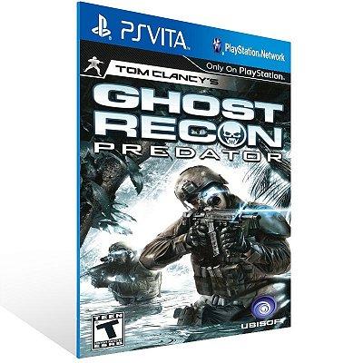 Ps Vita - Tom Clancy's Ghost Recon Predator - Digital Código 12 Dígitos US