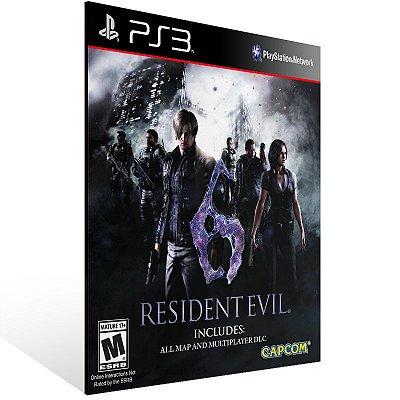 PS3 - Resident Evil 6 - Digital Código 12 Dígitos Americano