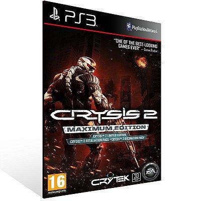 PS3 - Crysis 2 Maximum Edition - Digital Código 12 Dígitos Americano