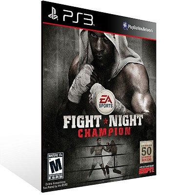 PS3 - Fight Night Champion - Full Game - Digital Código 12 Dígitos Americano