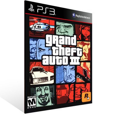 PS3 - Grand Theft Auto 3 - Digital Código 12 Dígitos Americano