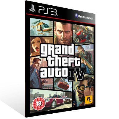 PS3 - Grand Theft Auto IV - Digital Código 12 Dígitos Americano