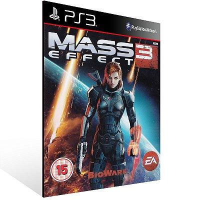 PS3 - Mass Effect 3 - Digital Código 12 Dígitos Americano