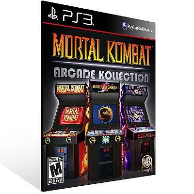 Ps3 - Mortal Kombat Arcade Kollection - Digital Código 12 Dígitos US