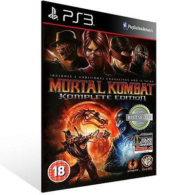 Ps3 - Mortal Kombat Komplete Edition - Digital Código 12 Dígitos US