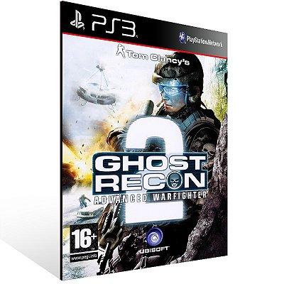 PS3 - Tom Clancy's Ghost Recon Advanced Warfighter 2 - Digital Código 12 Dígitos Americano