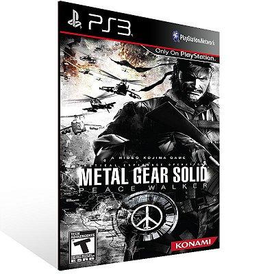 PS3 - Metal Gear Solid: Peace Walker - HD Edition - Digital Código 12 Dígitos Americano