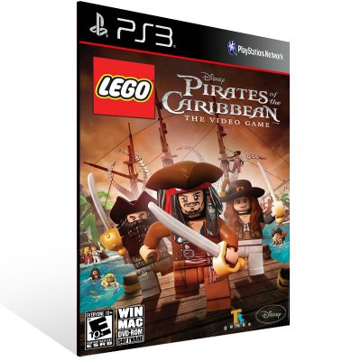 PS3 - LEGO Pirates of the Caribbean: The Video Game - Digital Código 12 Dígitos Americano