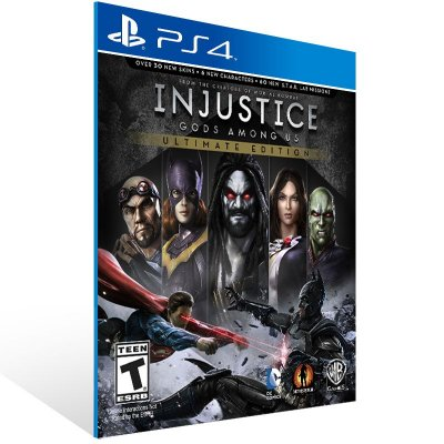 PS4 - Injustice: Gods Among Us Ultimate Edition - Digital Código 12 Dígitos Americano