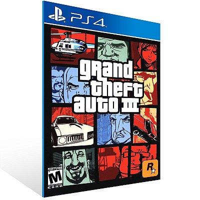 Ps4 - Grand Theft Auto III - Digital Código 12 Dígitos US