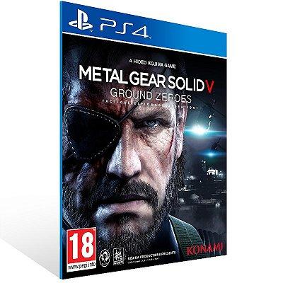 PS4 - METAL GEAR SOLID V: GROUND ZEROES - Digital Código 12 Dígitos US