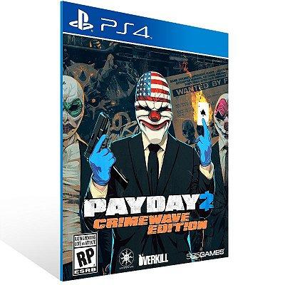 PS4 - PAYDAY 2 - CRIMEWAVE EDITION - THE BIG SCORE Game Bundle - Digital Código 12 Dígitos Americano