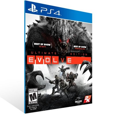 PS4 - Evolve Ultimate Edition - Digital Código 12 Dígitos Americano
