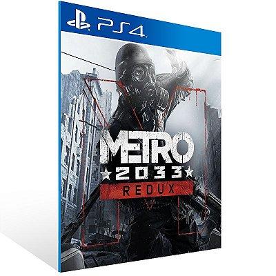 PS4 - Metro 2033 Redux - Digital Código 12 Dígitos Americano
