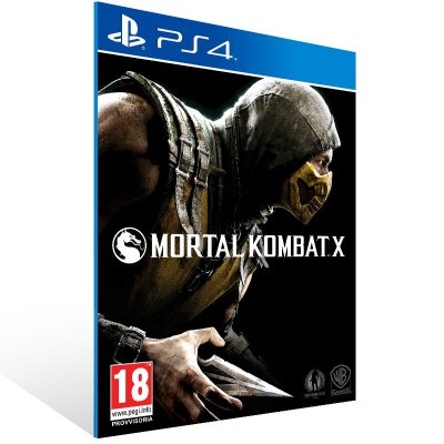 PS4 - Mortal Kombat X - Digital Código 12 Dígitos Americano