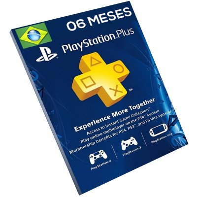 Cartão Pré-Pago Playstation Plus 6 Meses Brasil