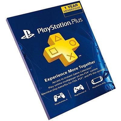 Cartão Playstation Network 12 Meses Brasil + 70 Reais (Psn Card)