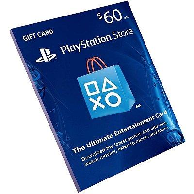 Cartão Pré-Pago Playstation Network $60 Dólares