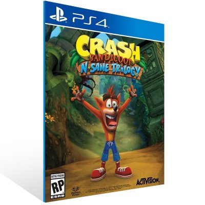 Ps4 - Crash Bandicoot N Sane Trilogy - Codigo Digital 12 Dígitos US
