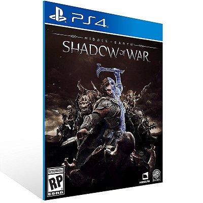 PS4 - Shadow of War Middle-earth - Digital Codigo 12 Digitos US
