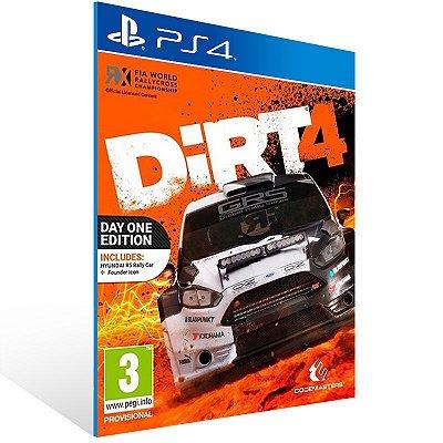 PS4 - DiRT 4 - Digital Código 12 Dígitos US