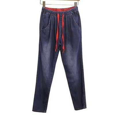 Calça Jeans Harém
