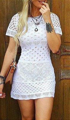 Vestido Tendencia Garota Mulher Branco