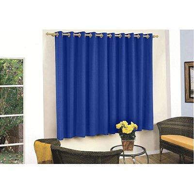 Cortina para varão 2,20 x 1,80m Nicole - Azul