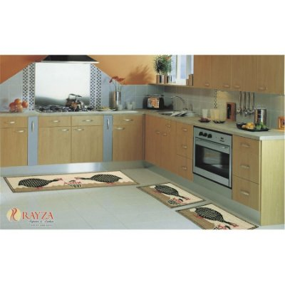 Jogo de Tapete para Cozinha Look 3 peças em sisal Rayza - Angola