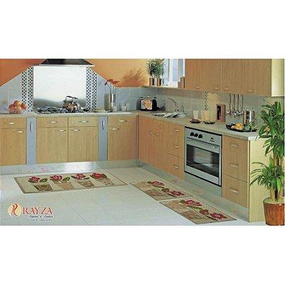 Jogo de Tapete para Cozinha Look 3 peças em sisal Rayza - Vasinhos