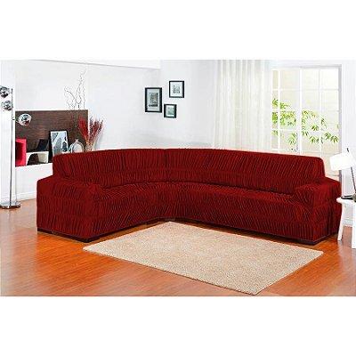 Capa de sofa de canto Elasticada 1 peça - Vermelho