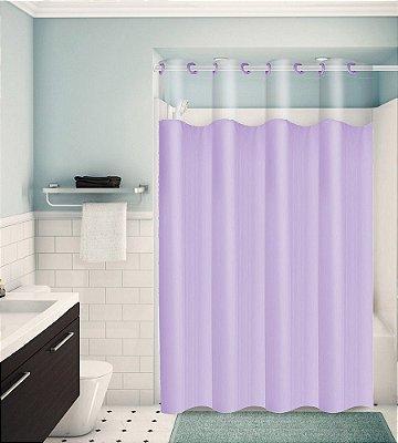 Cortina para Box de Banheiro Monocolors – Lilás