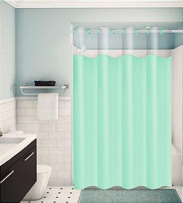 Cortina para Box de Banheiro Monocolors – Verde