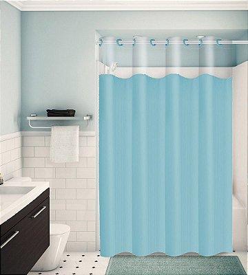 Cortina para Box de Banheiro Monocolors – Azul