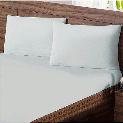 Lençol Queen com Elastico em Malha Premium 100% Algodão Avulso - Branco