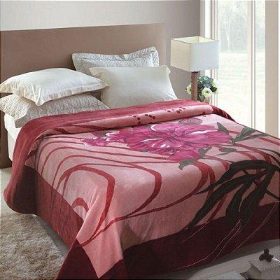 Cobertor King Rachel Estampado Jolitex - Miquerinos Rosa