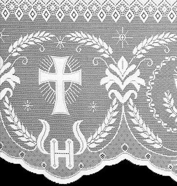 Renda Litúrgica 5 m com 60 cm de altura para toalha de Altar (16060) Branca