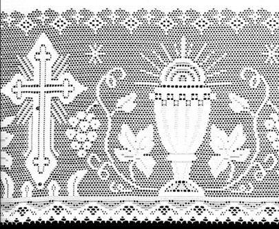Renda Litúrgica para Toalha de Altar com 30 cm larg x 1 m - (16030)
