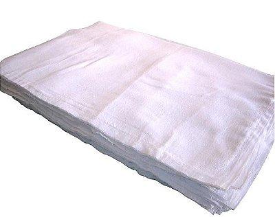 Pacote de Saco Alvejado Aberto Pequeno 100% Algodão 67 x 49 cm  - 20 Unidades