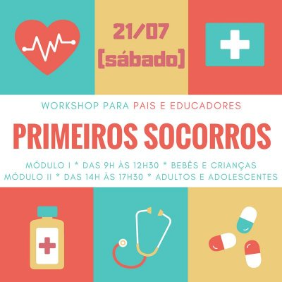 Workshop de primeiros socorros - adultos e adolescentes