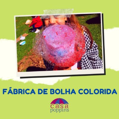 Fábrica de bolha colorida